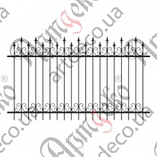 Forged fence 2800х1635 - picture