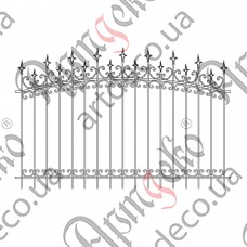 Forged fence 2500х1660 - picture