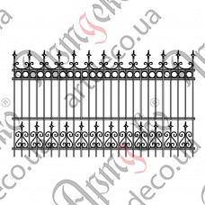 Forged fence 2750х1600 - picture