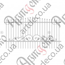 Forged fence 3000х1650 - picture