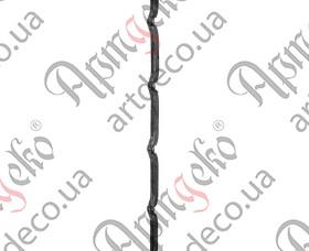 Кованый прокат с отверстиями 2000х12 невальц. - изображение