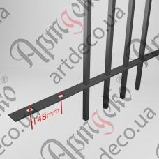 Прокат с отверстиями 2000х30х4 под 12 кв. шаг 148 - изображение