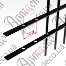 Прокат с отверстиями 2000х40х4 під 14 кв. шаг 150 - изображение