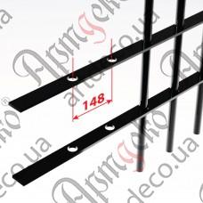 Прокат с отверстиями 2000х40х4 под 12 круг, шаг 148 - изображение