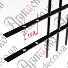 Прокат с отверстиями 2000х40х4 под 14 круг, шаг 150 - изображение
