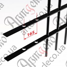 Прокат с отверстиями 2000х40х4 под 14 круг, шаг 165 - изображение