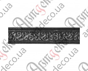 Кованая полоса декоративно-катанная, кованая декоративная полоса 2000x30x4 - изображение