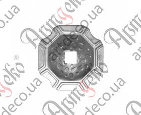 Кованая пятка декоративная 74х74х2 под 13 кв. - изображение
