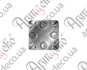 Кованая пятка 80х80х2,5 без отверстия - изображение