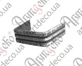 Кованая скоба 15x2x36 - изображение