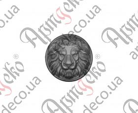 Лев (Сталь) 150х37мм - изображение