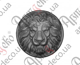 Лев (Сталь) 340х94мм - изображение