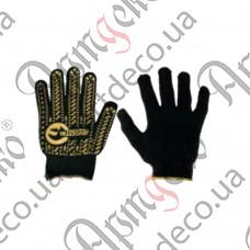 Перчатки с точками (чёрные) - изображение