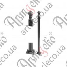 Столб для ограждения из трубы 860х40х40х2 - изображение