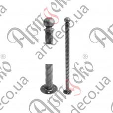 Столб для ограждения из трубы 820х42,3х2 - изображение
