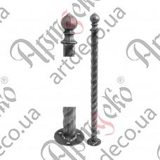 Столб для ограждения из трубы 860х42,3х2 - изображение