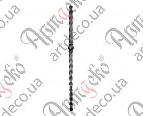 Кованый столб 1200х55х25 кв. - изображение