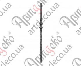 Кованый столб 1200х60х25 кв. - изображение