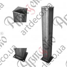 Столб для ограждения из трубы 750х100х100х3 - изображение