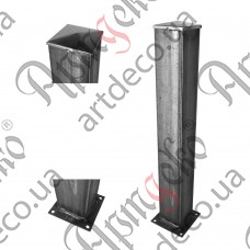Столб для ограждения из трубы 2000х100х100х3 - изображение