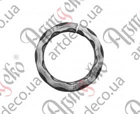 Кованое кольцо 100х12 вальц. - изображение