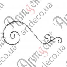 Декоративний элемент 550х215х12х6 вальц. - изображение