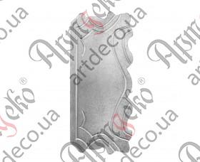 Кованая накладка 320х140х2 - изображение