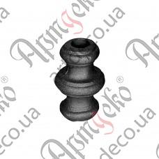 Насадка 67х40х14,5 отверстие под кругляк - изображение