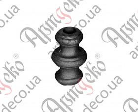 Кованая насадка 67х40х14,5 отверстие под кругляк - изображение