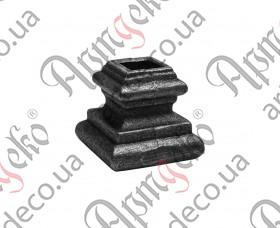 Кованая насадка 40х38х12,5 отверстие под кв. - изображение