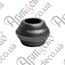 Насадка 25х35х12,5 отверстие под кругляк - изображение