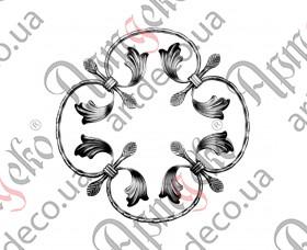 Кованая розетка 370х370х12х6 вальц. - изображение