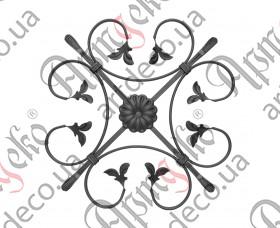 Кованая розетка 470х470х12х6/12 невальц. - изображение