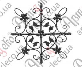 Кованая розетка 665х665х12х6/12 вальц. - изображение