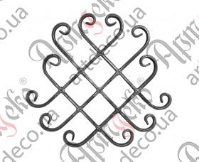 Кованая розетка 365х400х14х7 - изображение