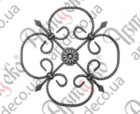 Кованая розетка 390х385х12х6 - изображение
