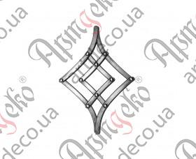 Кованая розетка 265х180х12х6 невальц. - изображение