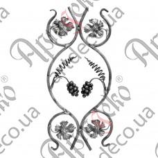 Розетка 610х285х12 лоза - изображение