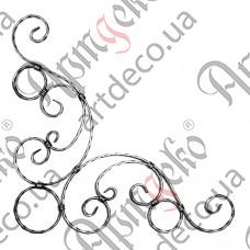 Rosette 650х650х12х6 beaten - picture