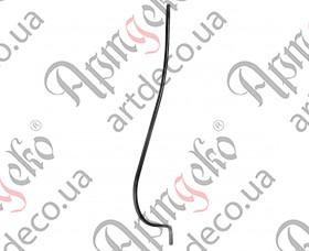 Кованая стойка гнутая (балясина) 950х12х190х12 невальц. - изображение