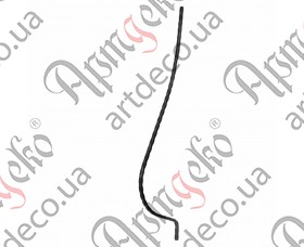 Кованая стойка гнутая (балясина) 1500х12х200х12 вальц. - изображение