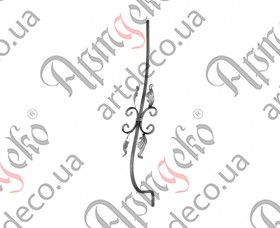 Кованая стойка гнутая (балясина) 950х160х190х12 невальц. - изображение