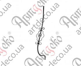 Кованая стойка гнутая (балясина) 950х155х190х12 невальц. - изображение