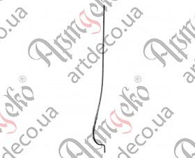 Кованая стойка гнутая (балясина) 950х25х210х10 вальц. - изображение