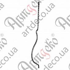 Стойка гнутая 950х12х140х12 вальц. - изображение