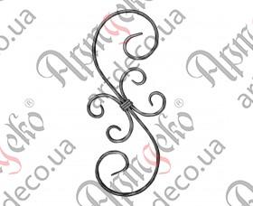 Кованая стойка (балясина) 400х165х12х6 вальц. - изображение