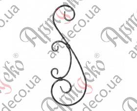 Кованая стойка (балясина) 500х175х12х6 вальц. - изображение