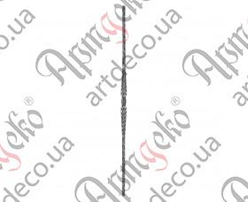Кованая стойка (балясина) 950х30х12 вальц. - изображение