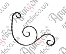 Кованый декоративный элемент 290х365х12х6 вальц. - изображение