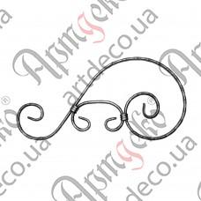 Декоративний элемент 430х220х12х6 вальц. - изображение